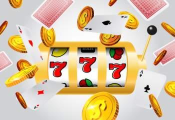 Terninger, penger, kort, og 777 Slot.